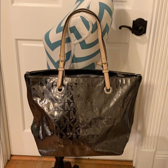 Silver Metallic Michael Kors Bag